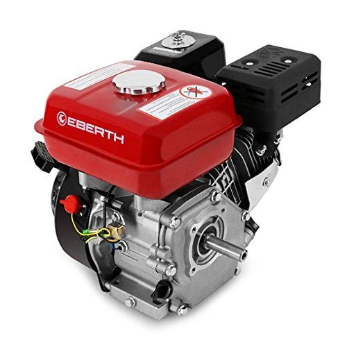 EBERTH 65 PS 48 kW Benzinmotor 20 mm Wellendurchmesser Ölmangelsicherung 1 Zylinder 4-Takt luftgekühlt Seilzugstart