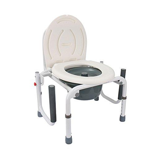 Bath chair Health UK Bad Stuhl Weiß Stahlrohr WC Sitz Abnehmbarer Handlauf Einstellbare Schwangere Frauen Bad Hocker Ältere Bad Stuhl Welcome