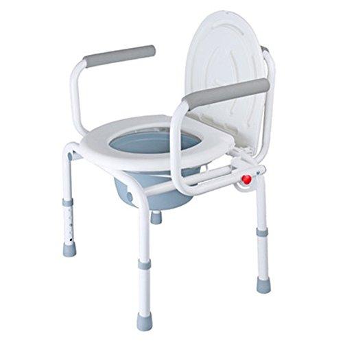 Bath chair Health UK Bad Stuhl Weiß Stahlrohr WC Sitz Apotheke Senioren WC Sitze Einstellbar Schwangere Frauen Ältere Badezimmer Hocker Welcome