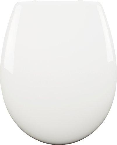 Croydex Hudson antibakteriell WC-Sitz mit Soft Close Scharnieren und Schnellverschluss für einfache Montage weiß