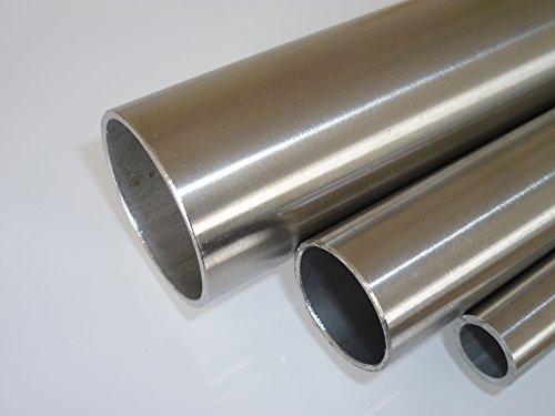 B&T Metall Edelstahl Rundrohr geschliffen Ø 603 x 2 mm 2 12 Länge ca 05m  Konstruktionsrohr K240 14301 längsnahtgeschweißt Hohl-Profil