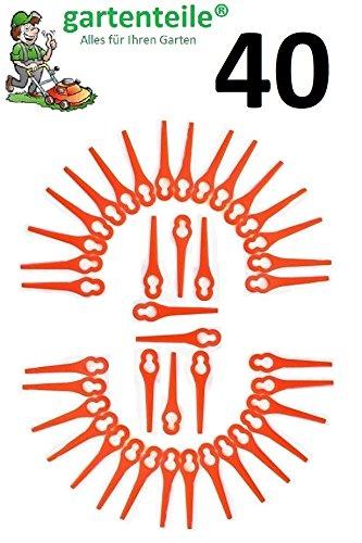 40 Ersatz Messer Passend für Florabest Akku Rasentrimmer FAT18B2 - LIDL 95940