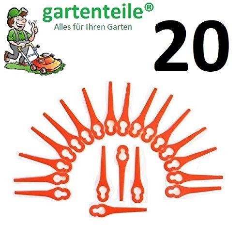 20 Ersatz Messer passend für Florabest Akku Rasentrimmer FAT18B2 - LIDL 95940