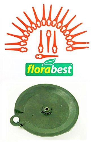 20 Messer 1 Schneidscheibe für Ihren Florabest LIDL Akku Rasentrimmer FAT 18 B2 IAN 86154 Schneidplättchen Plastik Messer Messerchen Plaste PA6