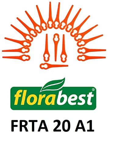 Florabest 20 ErsatzmesserMesserSchneidplättchenKunststoffmesser FRTA 20 A1 Akku Rasentrimmer Ian 282232