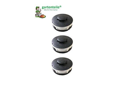 3 Stück Doppelfaden Rasentrimmer Spule Ersatzfadenspulen für Elektro Rasentrimmer passend für ALDI Top Craft King Craft Einhell RTV Gardenline GLR GLT Performance Power