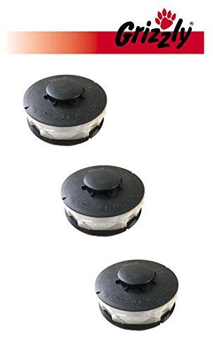 3 Stück Ersatz Spule Doppelfaden Rasentrimmer Spule Ersatzfadenspulen für Elektro Rasentrimmer passend für ALDI Top Craft King Craft Gardenline GLR GLT Einhell RTV Performance Power