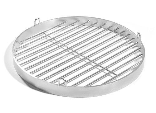 50cm Grill mit Halteösen Edelstahl V2A Schwenkgrill Schwenker Grillrost Feuerschalen Grillschalen Rundgrill