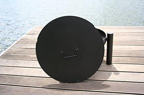 HESANI GmbH 61 cm Metalldeckel mit runden Aussparungen für Feuerschale 55 oder 60 cm Abdeckung Deckel Metall