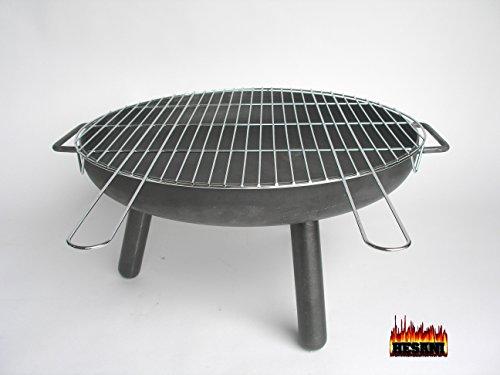 SET kB 55 cm Feuerschale  Grillrost 57 Tragegriffe Grill Dreibein Feuerkorb