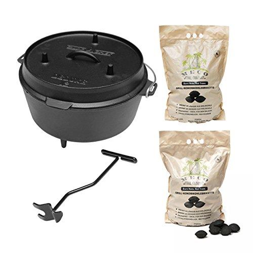 camp chef KS0861 Camp Chef Deluxe Dutch Oven DO-12  MECO Grill-Kokoskohlebriketts 2er-Pack