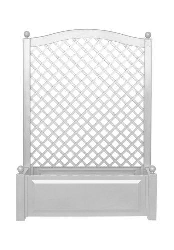 KHW 37001 Spalier 100 x 43 x 140 cm mit Pflanzkasten weiß