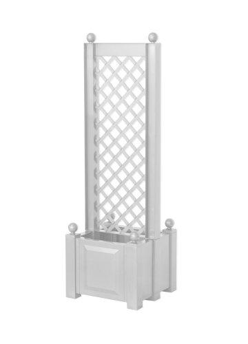 KHW 37401 Pflanzkasten mit Zentral-Spalier 43 cm weiß