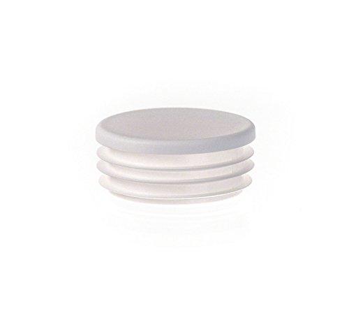 10 Stck Zollstopfen 1 Weiß Rundrohr Stopfen Kunststoff Abdeckkappen