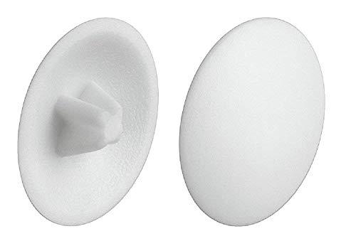 Gedotec Schrauben-Abdeckungen Kunststoff Verschluss-Stopfen weiß Schrauben-Kappen zum Einpressen  H1122  PZ2  Kreuzschlitz  20 Stück