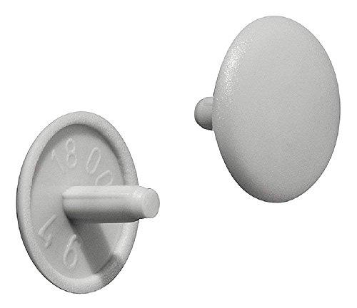 Gedotec Schrauben-Kappen rund Verschluss-Stopfen Kunststoff Möbel-Abdeckkappen grau  H1115  Ø 12 x 25 mm  für Kopflochbohrung PZ2  50 Stück