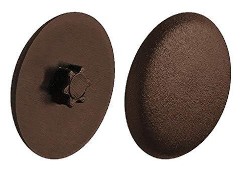 Gedotec Schrauben-Kappen zum Eindrücken Verschluss-Stopfen Kunststoff Schrauben-Abdeckungen braun  H1121  Ø 12 mm  IS20  50 Stück