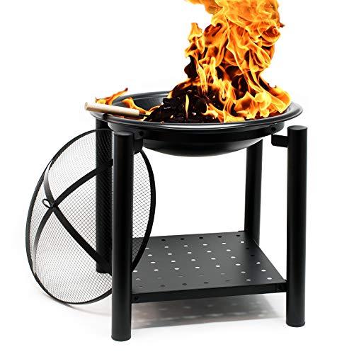 Wiltec Feuerstelle 50x50cm rund Feuerkorb Feuerschale Brennschale Grillfeuer Lagerfeuer