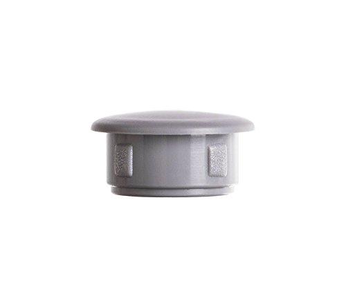 25 Stck Abdeckstopfen 10x7 mm Grau Blindstopfen Kunststoff Verschlusskappe