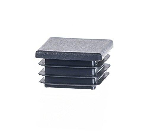 5 Stck Quadratstopfen 120x120 mm Anthrazitgrau Kunststoff Endkappen Verschlusskappen