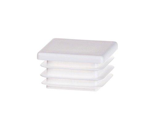 5 Stck Quadratstopfen 40x40 Weiß Kunststoff Endkappen Verschlusskappen