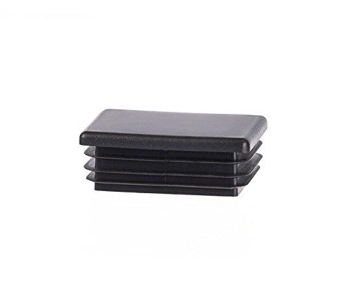 10 Stck Rechteckstopfen 50x40 mm Schwarz Kunststoff Endkappen Verschlusskappen