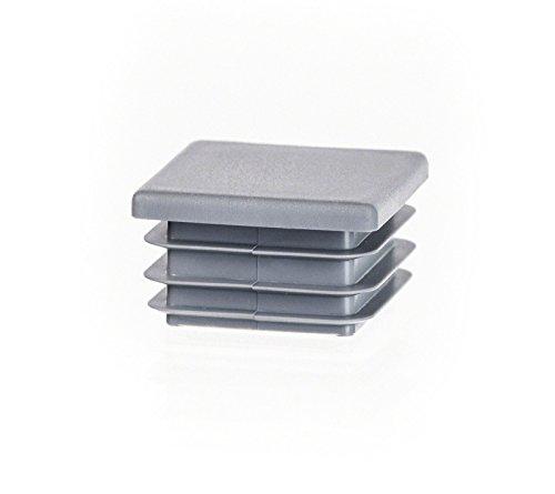 5 Stck Quadratstopfen 90x90 mm Grau Kunststoff Endkappen Verschlusskappen