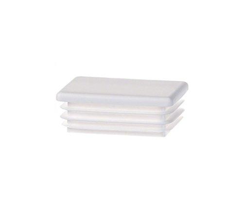 5 Stck Rechteckstopfen 60x40 mm Weiß Kunststoff Endkappen Verschlusskappen