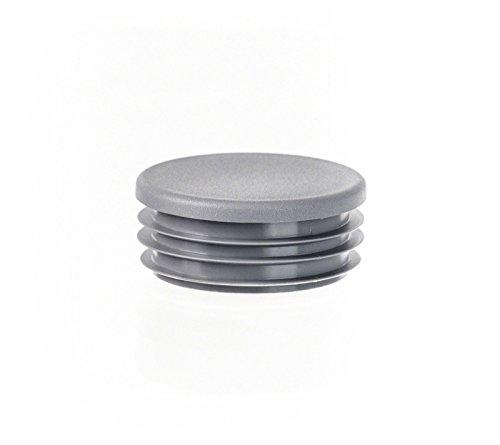 5 tck Rundstopfen 38 Grau Kunststoff Endkappen Verschlusskappen