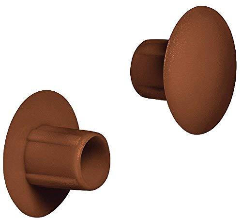 Gedotec Möbel-Abdeckkappen zum Eindrücken Schrauben-Abdeckungen Kunststoff Blindstopfen rund - H1120  Ø 5 mm  für Blindbohrung  20 Stück