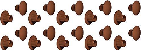 Gedotec Rohrstopfen rund Lamellenstopfen zum Eindrücken Möbel-Abdeckkappen braun - H1114  Ø 5 mm  100 Stück