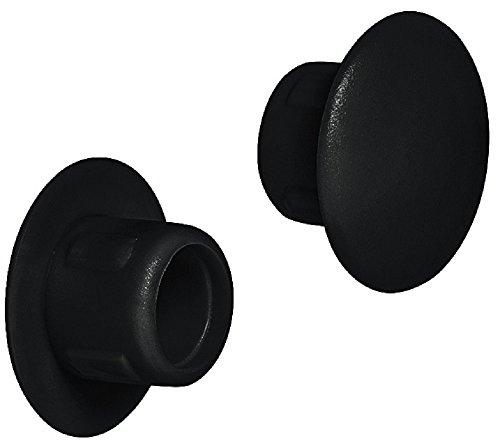 Gedotec Schrauben-Abdeckungen schwarz Schrauben-Kappe Kunststoff Blindstopfen rund  H1116  für Blindbohrung  Ø 8 mm  100 Stück