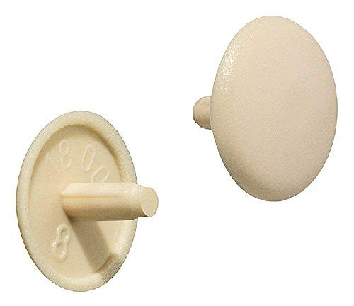 Gedotec Verschluss-Stopfen beige Schrauben-Kappe rund Schrauben-Abdeckungen Kunststoff  H1115  für Kopflochbohrung PZ2  Ø 12 x 25 mm  50 Stück