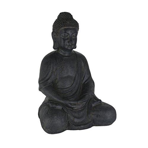 greemotion 124237 Buddha Dekofigur 30 x 25 x 44 cm schwarz