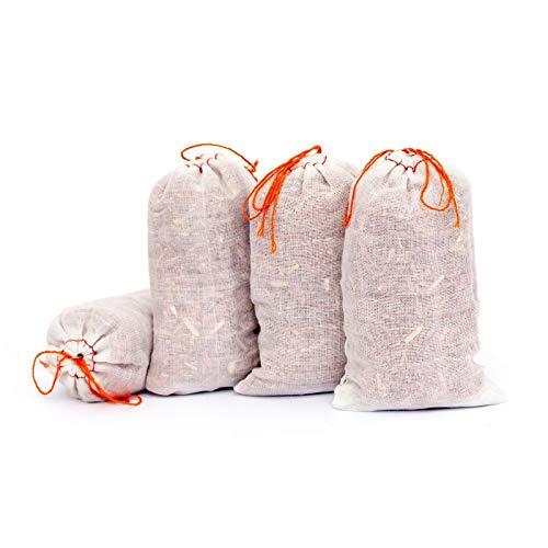 Lantelme 6110 Zedernholz Säckchen 4 Stück Set die Umweltfreundliche Mottenstop - Mottenschutz Bekämpfung