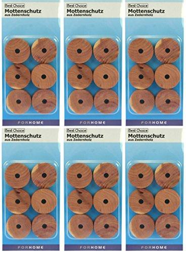 Mottenschutz aus Zedernholz 72 Stück Set