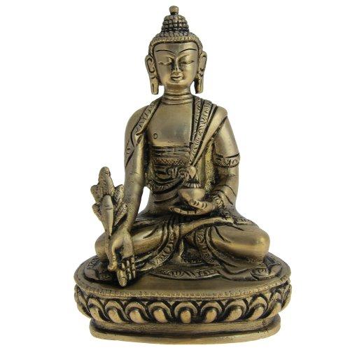ShalinIndia Statue of Buddha Meditation Skulpturen In Messing
