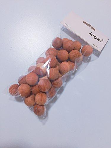 logei 40St Mottenkugeln aus Zedernholz Geruchskugeln Mottenstop Mottenschutz Set