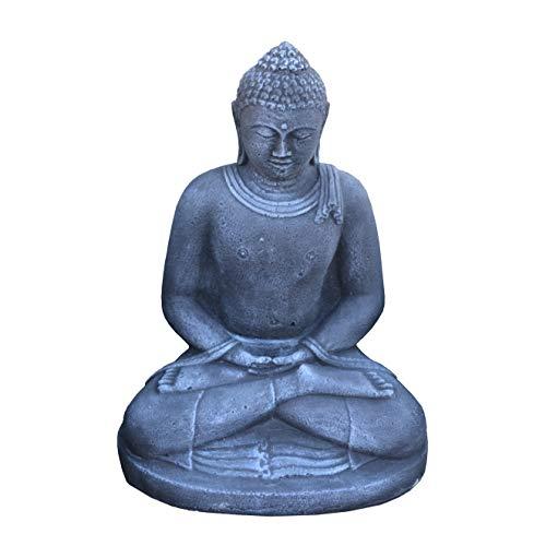 Massiver Stein Buddha Statue aus Bali Raumdeko Garendeko aus Steinguss frostfest