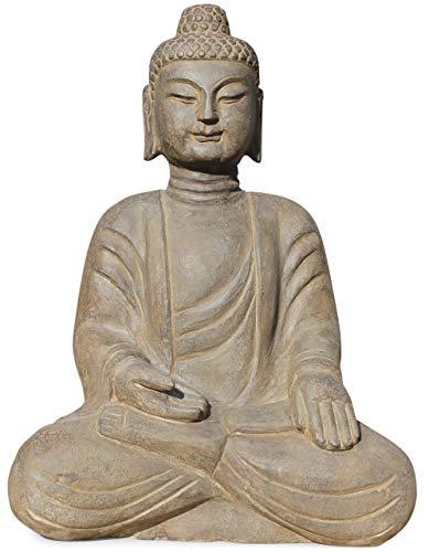 Asien Lifestyle Garten Buddha Figur 51cm Natur Stein Gartenbuddha TibetChina Figur