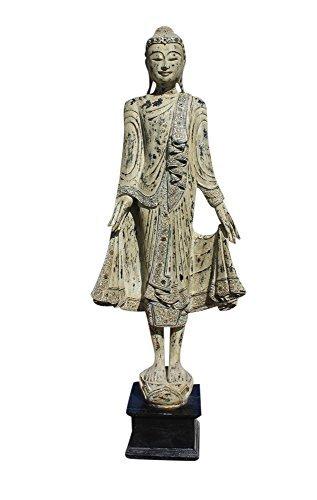 Buddha Figur aus Mandalay - Teak Holz - groß