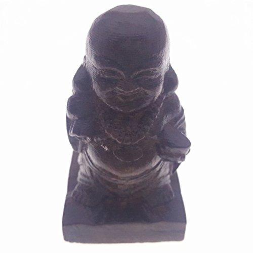 Holz hand-craved Scuplture Pflaster Statue Figur Adlerholz Maitreya Buddha Stoffbeutel