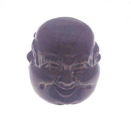 Holz hand-craved Scuplture Pflaster Statue Figur Adlerholz umgeben von Buddha amüsiert und traurig