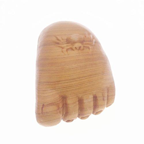 Holz hand-craved Scuplture Pflaster Statue Figur Sichuan-Lebensbaum Füße des Buddha