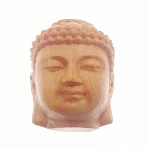 Holz hand-craved Scuplture Pflaster Statue Figur Sichuan-Lebensbaum Head of Buddha