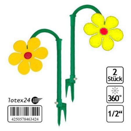 2 Stück Tanzende Blume Rasensprinkler Bewässerung Sprenger beweglich
