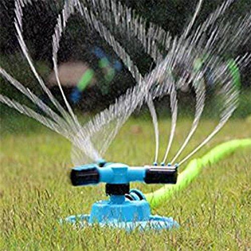 Chytaii Garten Sprinkler Wasser Sprinkler Wasser Sprühdüse Garten Rasen-Sprenger automatisch mit 360 Grad Drehung für Gartenarbeit Pflanzen Blumen blau