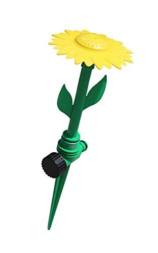 Jardinion Sprinkler Rasensprenger Blumenform Fontäne Wasserblume Beregnungsdurchmesser 6m Beregnung Bewässerung Grün STK