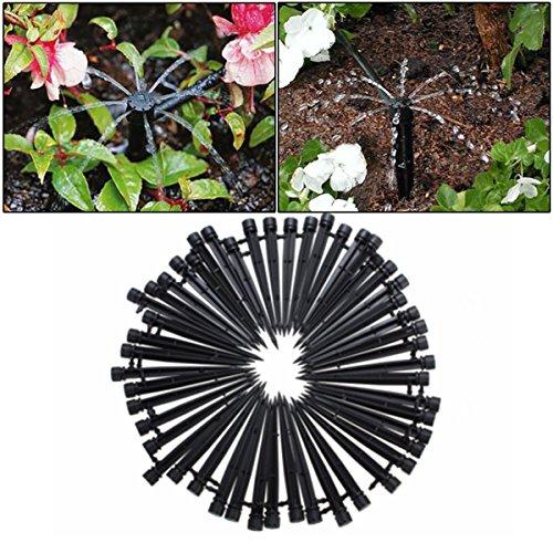 KING DO WAY 10m Gartenschlauch 10 Stueck Töpfe Bewaesserung Sprinkler fuer Anlagen Blume Tropschlauch Mikro Bewaesserungssystem Perlschlauch Pflanzen 50x Sprinklereinsätze
