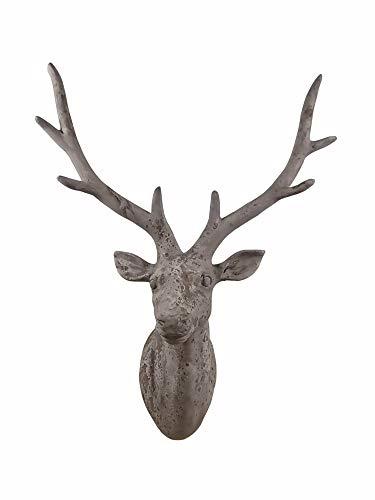 Hirsch Kopf Büste Geweih Deko Tier Figur Skulptur Statue Elch Rentier Wanddeko